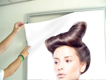 Load image into Gallery viewer, Textile Frame - Woman in Quiff Hairstyle with Tree Graphic Design Gown