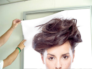 Textile Frame - Woman in Messy Bun Updo