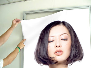 Textile Frames and Cloth - Woman in Bob Hairstyle