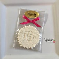 10 NUMBER FIFTEEN #15 Chocolate Decorative Floral Candy Party Favors 15th Birthday