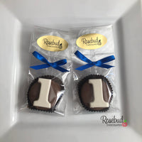 12 NUMBER ONE #1 Chocolate Covered Oreo Cookie Candy Party Favors 1st Birthday