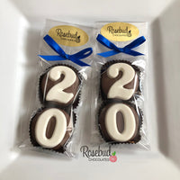8 Pairs NUMBER TWENTY #20 Chocolate Covered Oreo Cookie Candy Party Favors 20th Birthday