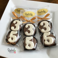 8 Pairs NUMBER THIRTY FIVE #35 Chocolate Covered Oreo Cookie Candy Party Favors 35th Birthday