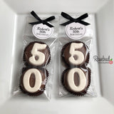 "8 Pairs ""50th BIRTHDAY"" #50 Chocolate Covered Oreo Cookie Party Favors Personalized Tag"
