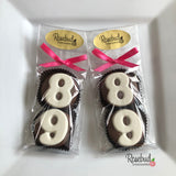 8 Pairs NUMBER Eighty-Nine #89 Chocolate Covered Oreo Cookie Candy Party Favors 89th Birthday