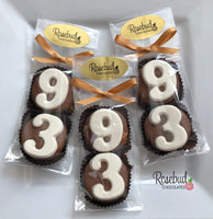 8 Pairs NUMBER NINETY-THREE #93 Chocolate Covered Oreo Cookie Candy Party Favors 93rd Birthday