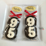8 Pairs NUMBER NINETY-FIVE #95 Chocolate Covered Oreo Cookie Candy Party Favors 95th Birthday