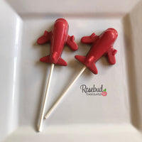 12 AIRPLANE Chocolate Lollipop Candy Party Favors