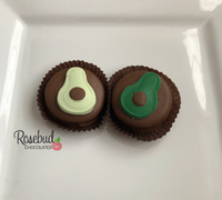 12 AVOCADO Chocolate Covered Oreo Cookie Candy Party Favors