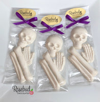 9 BAG OF BONES White Chocolate Skeleton Candy Party Favors