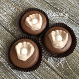 12 BASEBALL GLOVE & BALL Chocolate Covered Oreo Cookie Candy Sports Birthday Party Favors