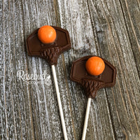 12 BASKETBALL HOOP & BALL Chocolate Lollipop Party Favors