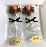 12 BASKETBALL HOOP & BALL Chocolate Lollipop Candy Sports Birthday Party Candy Favors