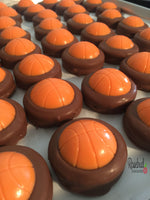 12 BASKETBALL Chocolate Covered Oreo Cookie Candy Sports Birthday Party Favors