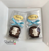 12 TEDDY BEAR Chocolate Covered Oreo Cookie Candy Party Baby Shower Favors
