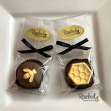 12 BUMBLE BEE & HONEYCOMB Chocolate Covered Oreo Cookie Candy Party Favors