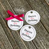 "12 PRINCESS CROWN Chocolate Covered Oreo Cookie Party Favors Personalized ""BIRTHDAY"" Tag"