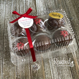 6 Pack HOT CHOCOLATE BOMBS Marshmallow Cocoa POINSETTIA Holiday Gift