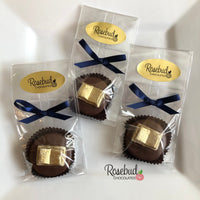 12 GOLD Dusted BOOK Chocolate Covered Oreo Cookie Candy Party Favors