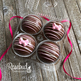 4 Pack HOT CHOCOLATE COCOA BOMBS Marshmallow BOWS Birthday Gift