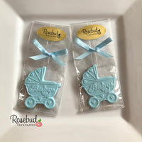 "12 ""BABY"" BUGGY Chocolate Candy Party Shower Favors"