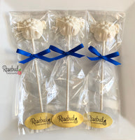 12 BULLDOG Chocolate Lollipops Candy Party Favors