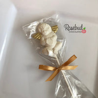 12 ANGEL CHERUB Chocolate Lollipops Candy Party Favors