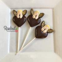 12 ANGEL CHERUB Chocolate Lollipop Religious Candy Party Favors