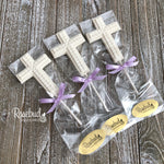 12 CROSS Cube Chocolate Lollipops Religious Candy Party Favors