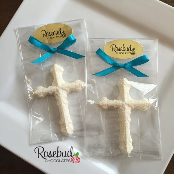 12 CROSS Decorative Chocolate Candy Party Favors