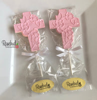 12 CROSS Chocolate Lollipop Candy Party Favors