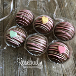 6 Pack HOT CHOCOLATE Cocoa Bombs COVERSATION HEARTS Holiday Gift Marshmallows