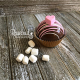 6 Pack HOT CHOCOLATE COCOA BOMBS Conversation HEARTS Marshmallow Valentine's Day Birthday Gift