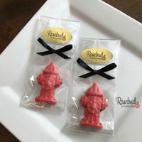 12 FIRE HYDRANT Chocolate Candy Party Favors