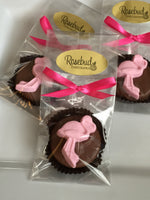 12 FLAMINGO Chocolate Covered Oreo Cookie Candy Party Favors