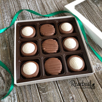 GOLF BALL - Chocolate Covered Oreo Cookies - 9 Piece White Gift Box