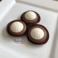 9 Piece White Gift Box Chocolate Covered Oreo Cookies GOLF BALLS