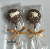 12 GRADUATION CAP & DIPLOMA Chocolate Oreo Cookie Lollipop Candy Party Favors