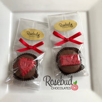 12 HEART & LOVE LETTER Chocolate Covered Oreo Cookie Candy Party Favors