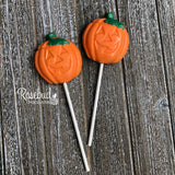 12 JACK-O-LANTERN Chocolate Lollipop Halloween Candy PUMPKIN Party Favors