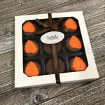 9 Piece White Gift Box Chocolate Covered Oreo Cookies LEAF