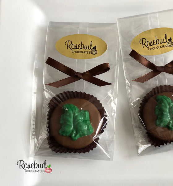 12 LEAF Chocolate Covered Oreo Cookie Candy Party Favors