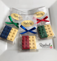 12 BUILDING BLOCKS Chocolate Candy Birthday Party Favors
