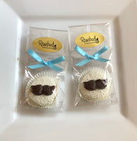 12 MUSTACHE Chocolate Covered Oreo Cookie Candy Birthday Party Favors