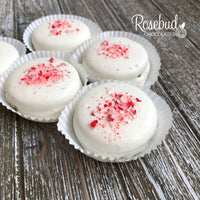 12 CANDY CANE White Chocolate Covered Oreo Cookie Christmas Holiday Party Favors