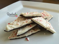 PEPPERMINT BARK with Dark Chocolate 1 Pound (2 Gift Boxes) Christmas Holiday Candy