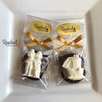 12 PILGRAM & MAYFLOWER Chocolate Covered Oreo Cookie Thanksgiving Party Favors