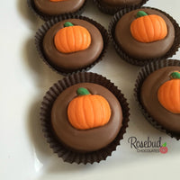 12 PUMPKIN Chocolate Covered Oreo Cookie Candy Party Favors