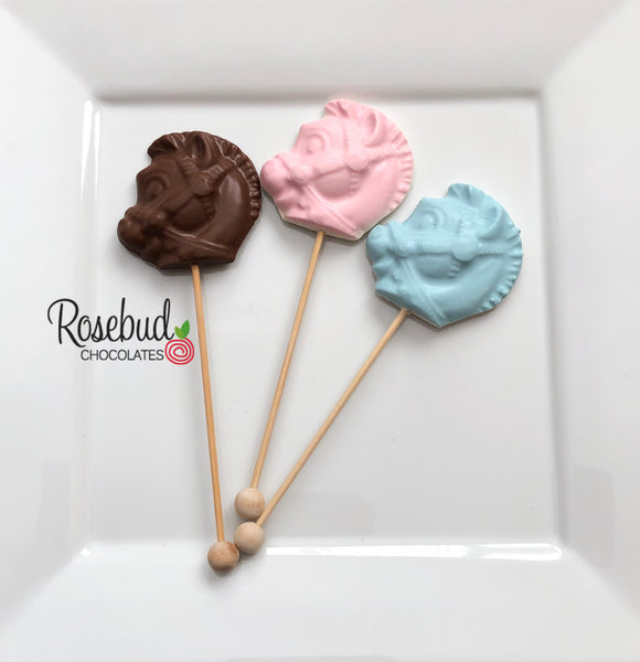 12 PONY Chocolate Lollipops Candy Birthday Baby Shower Party Favors