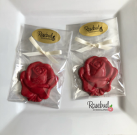 12 ROSE Bloom Chocolate Candy Party Favors Flowers Wedding Birthday